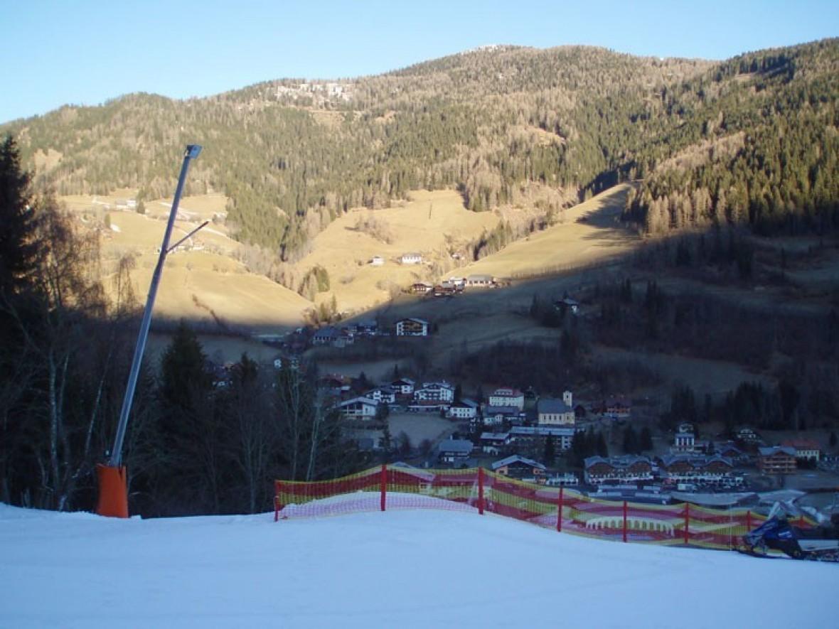 morgendliche Ansicht aus dem Skigebiet